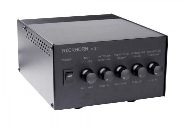 A-2.1 Stereo Verstärker + Mono Subwoofer mit Frequenzregelung
