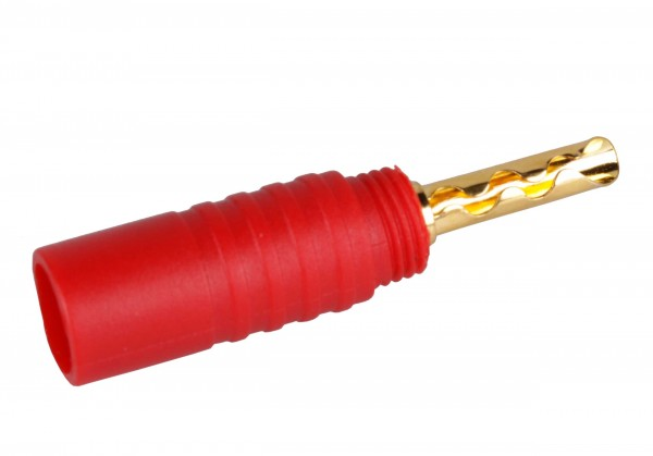 Banana plug for cables from 1.5 to 6mm² Red