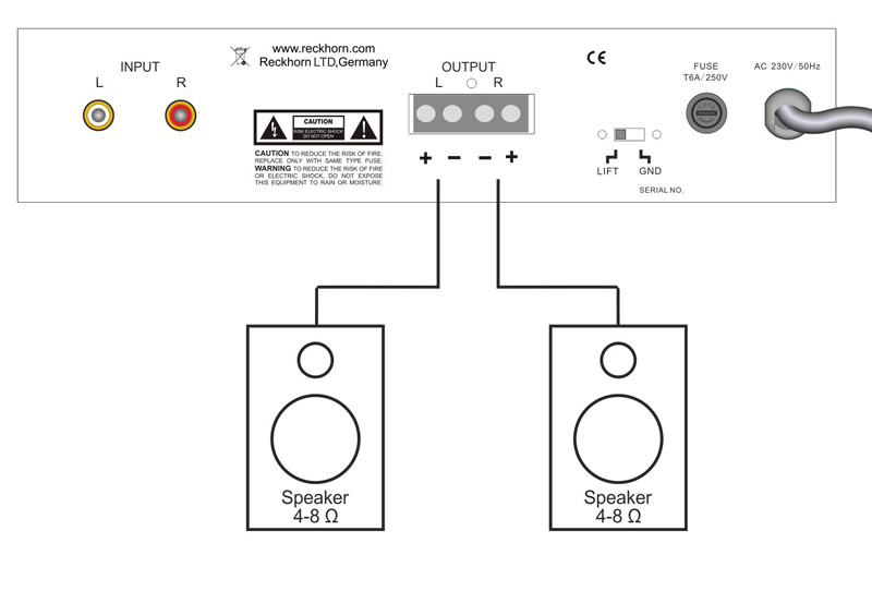 connection diagram for 2 x subwoofer